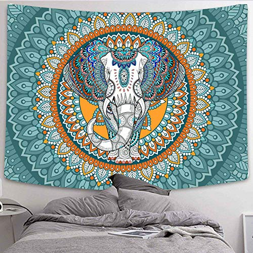 DBLLF Elephant Tapestry Wall Hangings Bohemian Elephant Tapestries Wall Hanging Decor Hippie Tapestry Boho Dorm Decor Wall Tapestries for Bedroom (80×60Inches) DBLF008