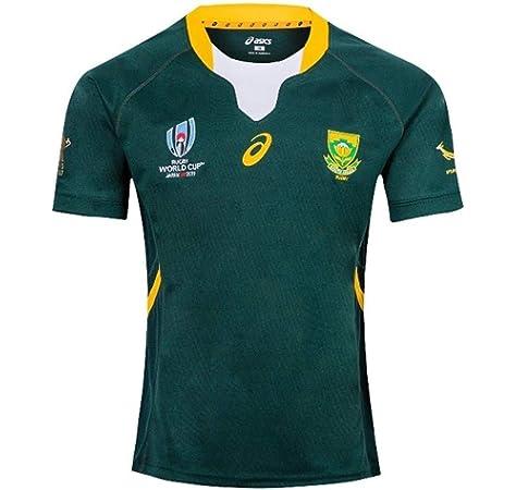 Rugby Jersey Sudáfrica Local/visitante Fan T-Shirts Hombres Deportes Secado rápido de Manga Corta 2019 World Cup Fútbol Americano Jerseys,Green,L/175-180CM: Amazon.es: Deportes y aire libre