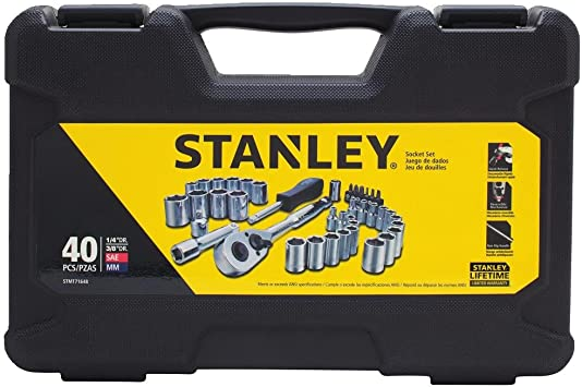 "Stanley 40Pc 3//8/"" Socket Set"
