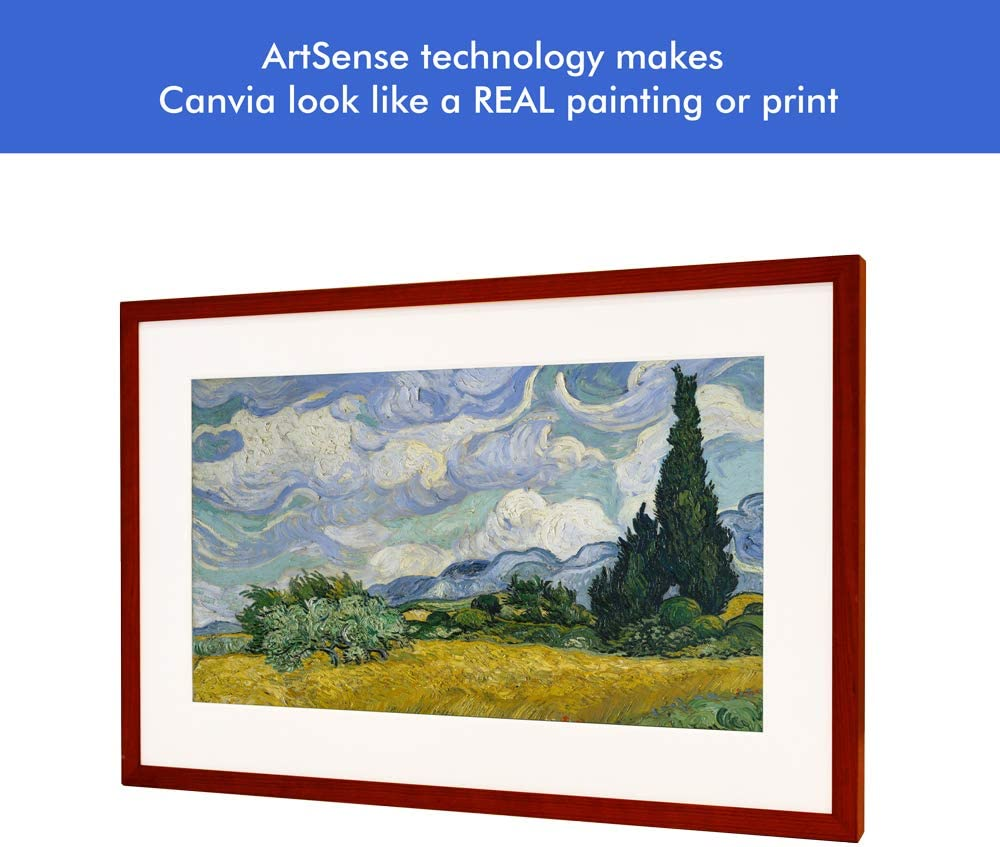 Powered by ArtSense|Free 2500 Artworks Digital Art Canvas /& Smart Digital Frame 11AC WiFi Canvia 27x18in Frame Adv Full-HD Display 16GB