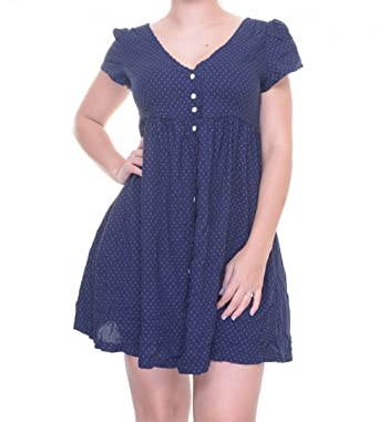 Denim \u0026 Supply Ralph Lauren Women\u0027s Star-Print Button-front Dress, Navy  (X-Small) at Amazon Women\u0027s Clothing store: