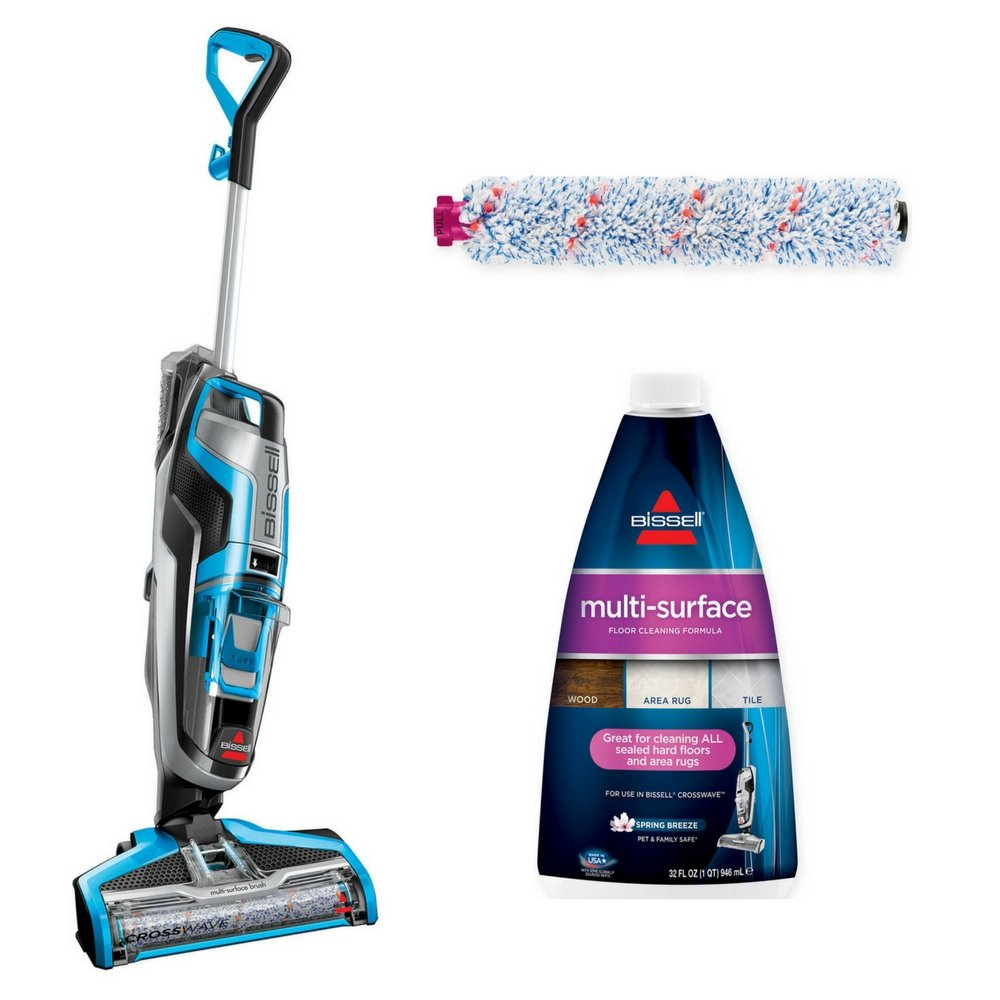 Bissell crosswave multi surface formula 32oz multi surface formula bissell crosswave multi surface formula 32oz multi surface formula with multi surface brush roll17859 all in one multi surface upright vacuum dailygadgetfo Image collections