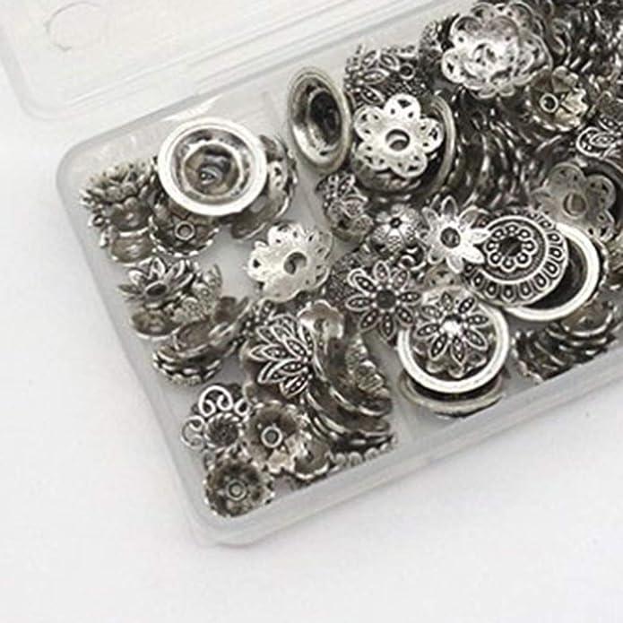 Argent TENDYCOCO 1 Bo/îte 100g Main Fleur Perles Pendentifs en Bo/îte sans Perles Perl/é R/éceptacle Bijoux D/écor pour Collier Bracelet Fabrication De Bijoux
