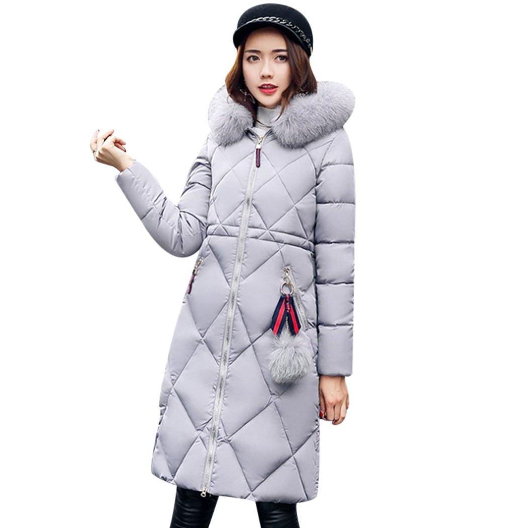 XWDA Down Parka Women Long Puffer Jacket Winter Lightweight Hooded Coat with Fur Hood 2012