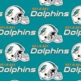 Zen Creative Designs 100% Cotton NFL Sports Team Miami Dolphins Multi-Print Window Valance Panel/Kids Nursery Window Treatment Decor (28'' Tall)