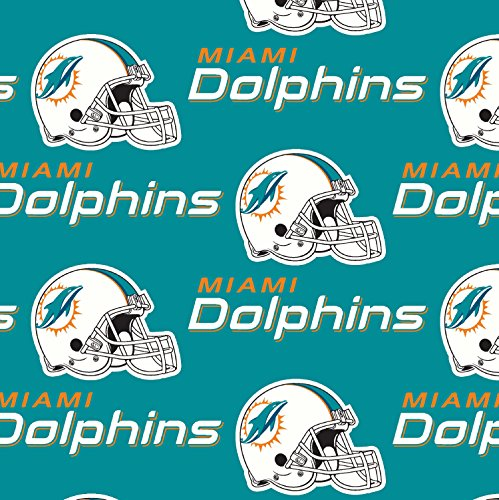 - lovemyfabric NFL Sports Teams Logo Print Stage Backdrop/Photography Backdrop/Photo Studio Background 5 Feet by 9 Feet (Miami Dolphins)