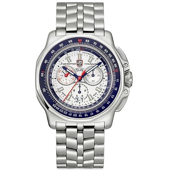 f8c148f793fd Luminox F-22 Raptor 9270 serie del hombres plata titanio reloj  Amazon.es   Relojes