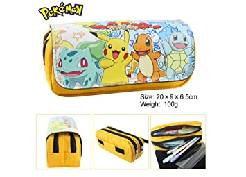 T-MIX Pokemon Pikachu Estuche de lápices Anime Gran ...
