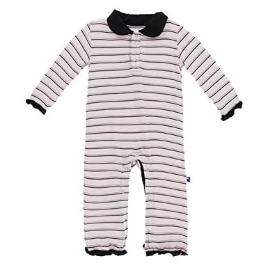50c51de1eed5 Amazon.com  Kickee Pants Little Girls Print Long Sleeve Peter Pan ...