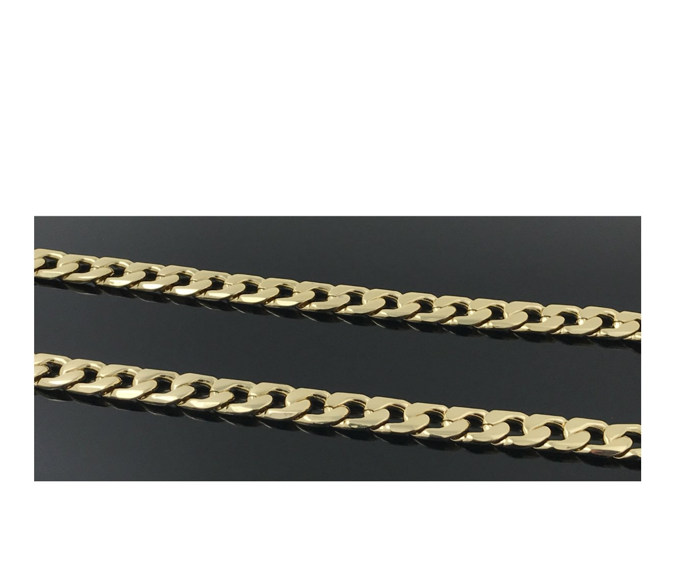 Gold chain necklace 11MM 14K Diamond cut Smooth Cuban Link with a Warranty Of A LifeTime USA Made! (30) by Unknown (Image #3)