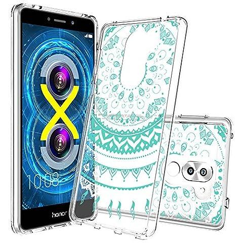 Huawei Honor 6X Case with HD Screen Protector, AnoKe [Scratch Resistant]Colors Dream Catcher Mandala Flower Cute Grils Ultra Slim Acrylic Hard TPU Hybrid For Huawei Honor 6X TM CH Crystal (Nexus 4 Anime Case)