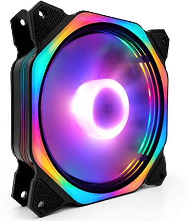 LED Computer Cooling Fan PC Case Fan Cooler Case Glare Multicolor Cooler Fans