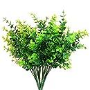 """Aplstar Artificial Shrubs Plants,14"""" vibrant Faux Plastic Eucalyptus Leaves, Vivid Bushes for Home Decor, Wedding,Garden,Patio Decoration,4 Bundles"""