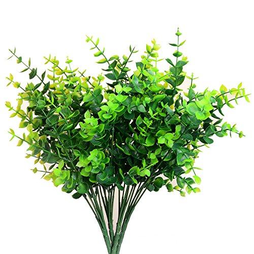 "Aplstar Artificial Shrubs Plants,14"" vibrant Faux Plastic..."