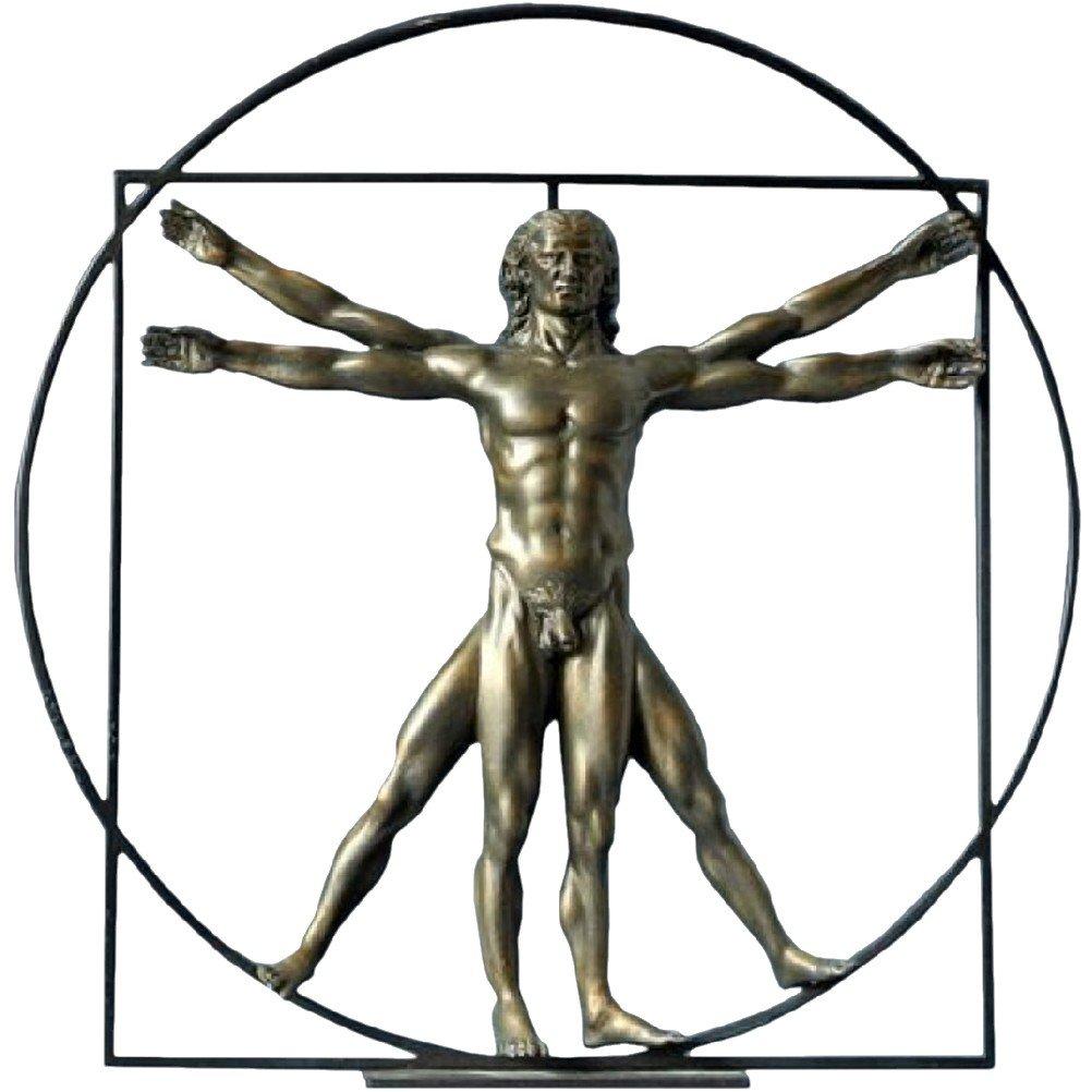 Leonardo Da Vinci Der vitruvianische Mensch Skulptur Plastik ...