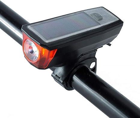 JINJIN La luz Solar Cuerno de Bicicletas de montaña del Faro Luces ...