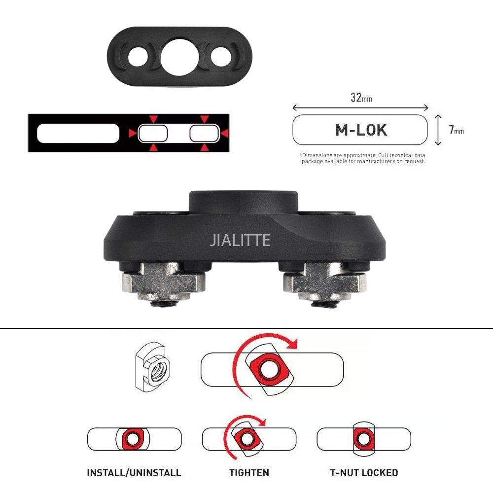 JIALITTE M-lok QD Sling Mount Sling Swivel 1.25 Inch Adapter Attachment for M lok Rail by JIALITTE (Image #2)