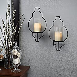 LampLust Flameless Candle Wall Sconces - Glass Hur
