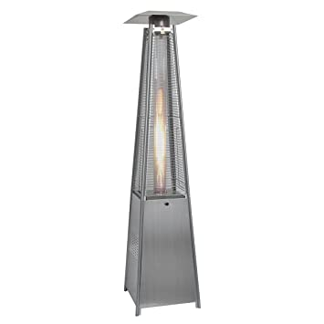 goplus new standing outdoor patio heater deck pyramid natural gas propane lp - Natural Gas Patio Heater