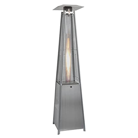 Goplus New Standing Outdoor Patio Heater Deck Pyramid Natural Gas Propane LP