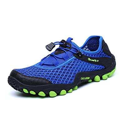 Men Mesh Water Shoes Outdoor Quick Dry Slip on Breathable Beach Non-Slip Sneaker
