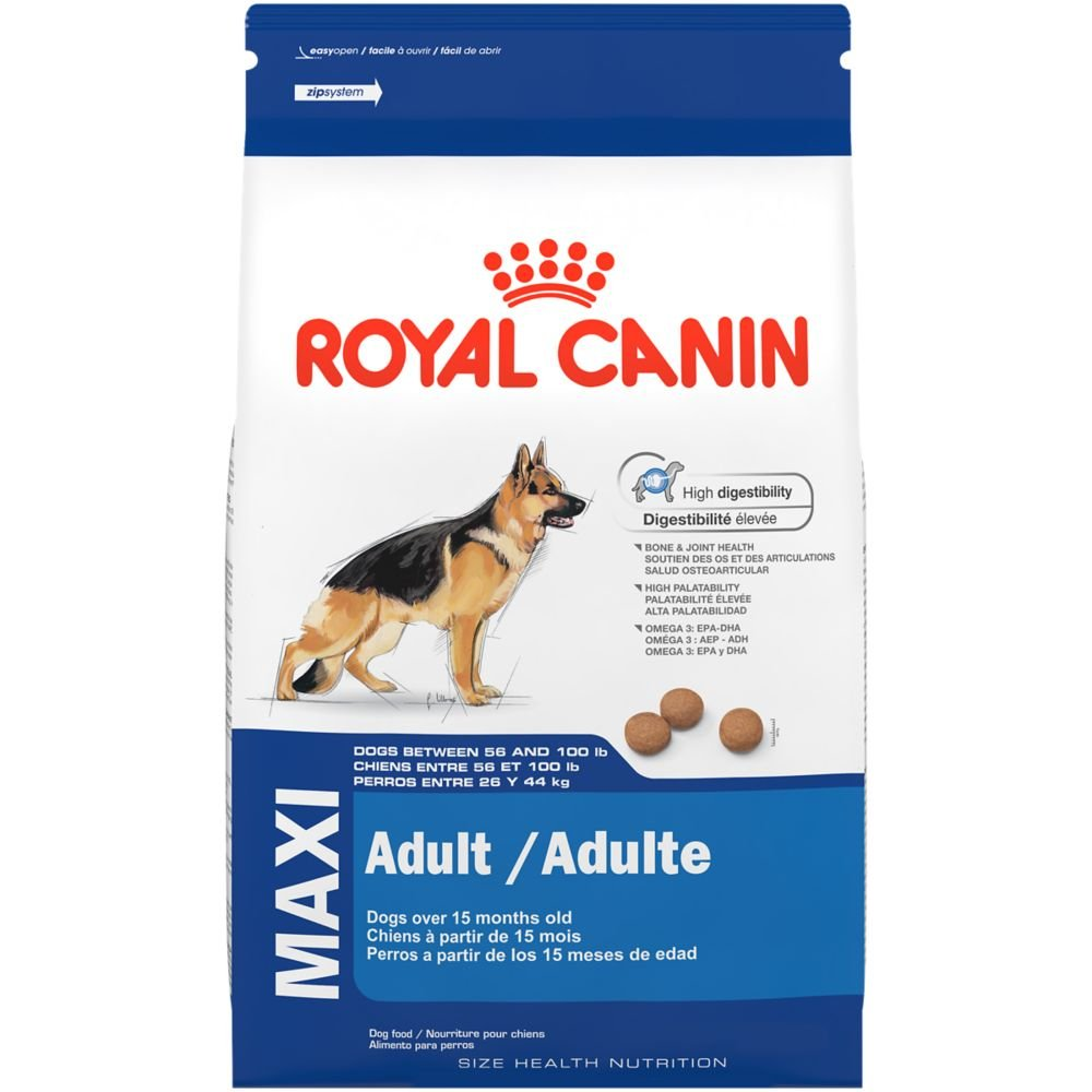 royal canin size health nutrition maxi adult dry dog food 35 pound ebay. Black Bedroom Furniture Sets. Home Design Ideas
