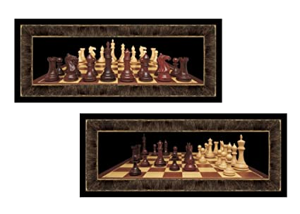 home office decor games. Set Of 2 Chess Board Games Photographs Art Prints Posters Man Cave 6x18  Inches Home Office Home Office Decor Games F