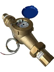 "DAE MJ-200 2"" NSF61 Lead Free Potable Water Meter, Pulse Output + Couplings"