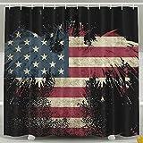 BINGO FLAG Funny Fabric Shower Curtain UEA Eagle Flag Waterproof Bathroom Decor With Hooks 60 X 72 Inch