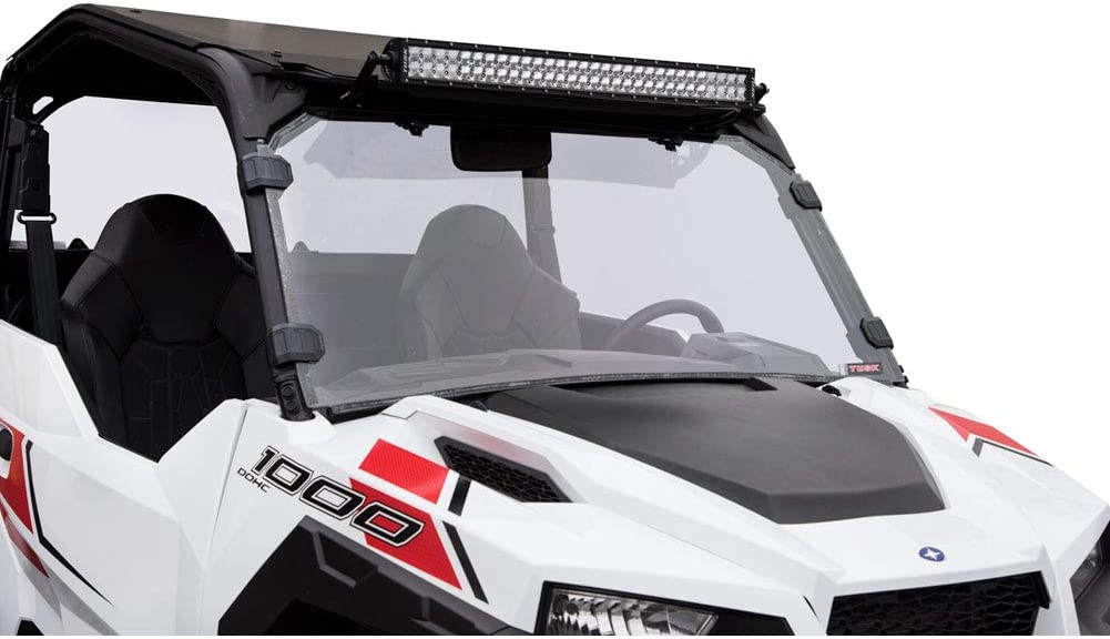 Tusk Vented Hard Coated Poly Carb Front UTV Windshield For Polaris RZR XP 1000 2014 2018