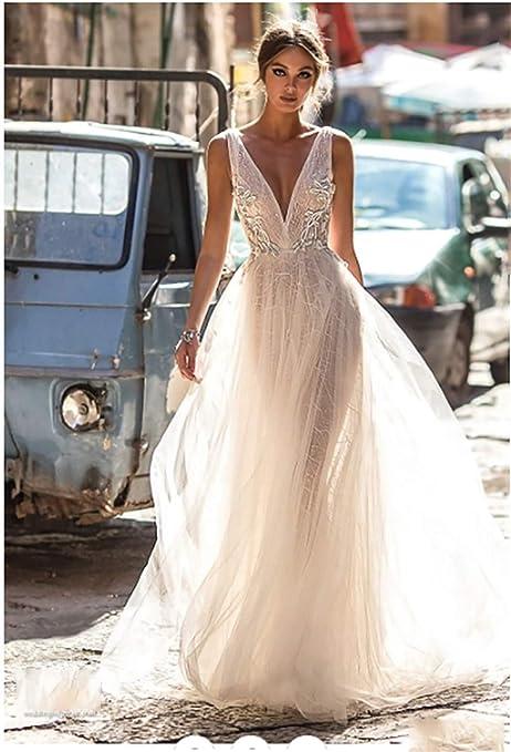 QIUXIANG Robe de mariée femme Robe de marié