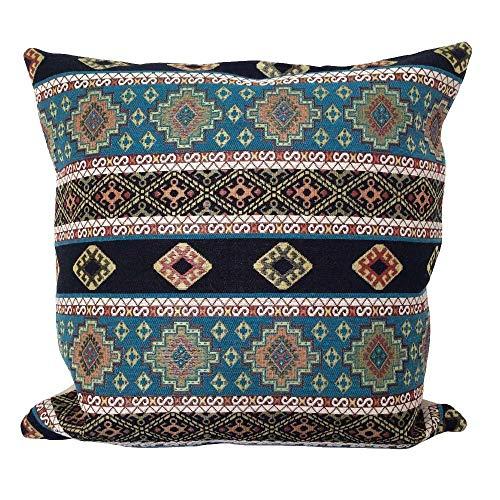 pillowerus Tapestry Fabric Kilim Pattern Turquoise 18