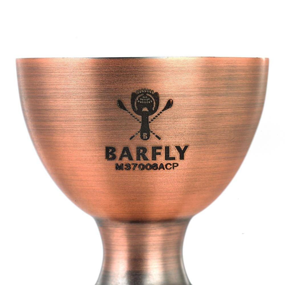 Barfly M37006ACP Heavy-Duty Straight Rim Bell Jigger Antique Copper