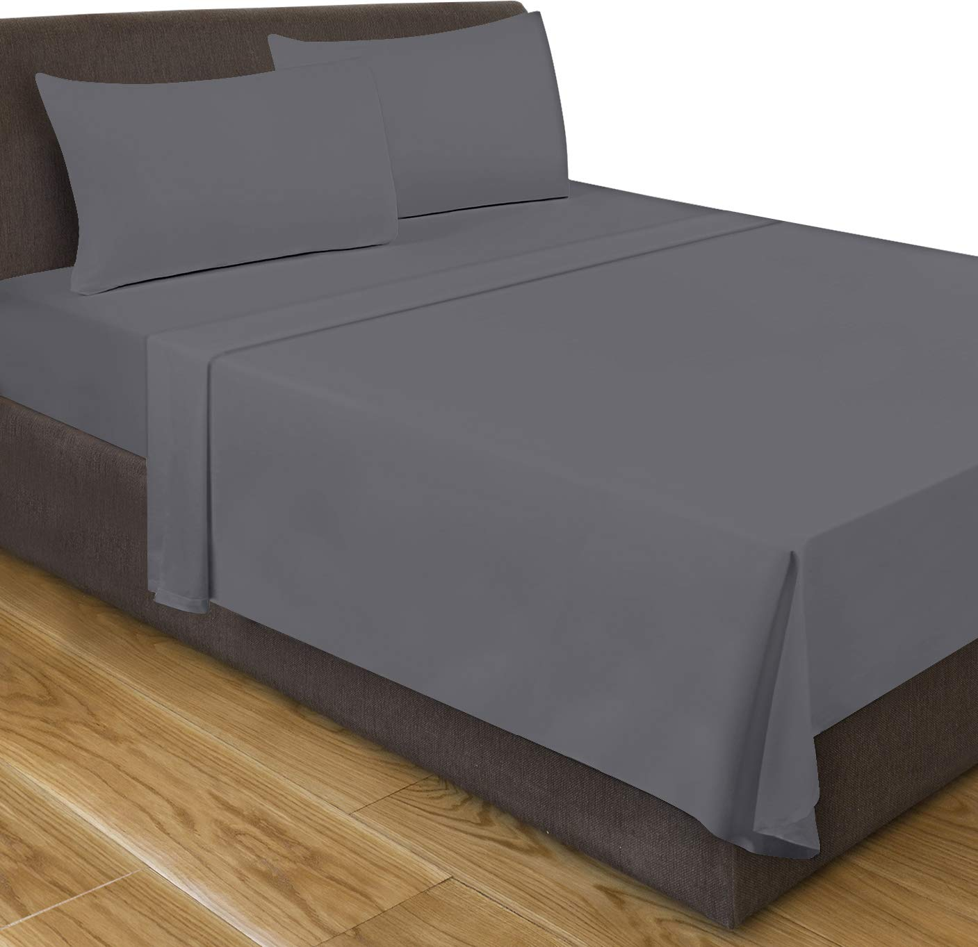 Utopia Bedding King Flat Sheet (Grey)