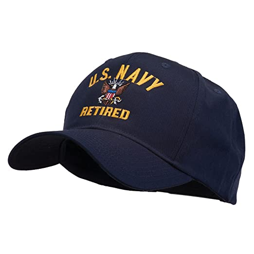 E4hats US Navy Retired Military Embroidered Cap - Navy OSFM at ... 2c5da3824530