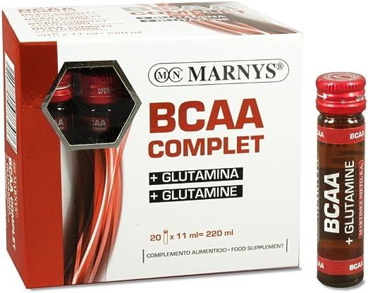 BCAA COMPLET + GLUTAMINA 20 VIALES MARNYS: Amazon.es: Salud y ...