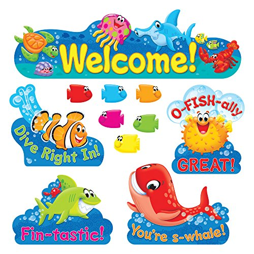 TREND enterprises, Inc. Sea Buddies Welcome Bulletin Board Set (Photo Bulletin Board Set)