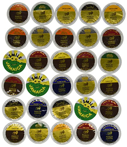 30-count - Marley Coffee Single-serve Variety Pack for Keurig K-cup Brewers