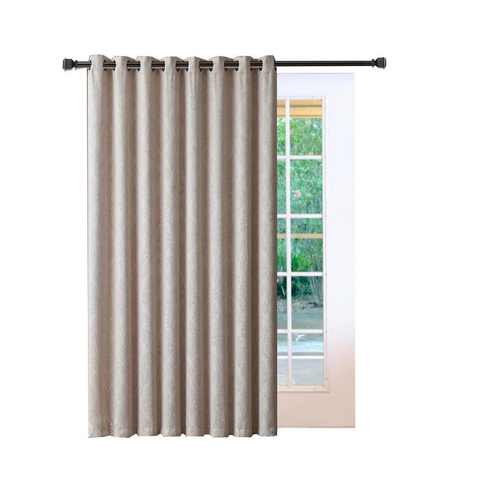 Warm home designs 1 extra large 102 x 84 panel of textured ivory patio door curtains insulated blackout sliding door or room divider drape with embossed