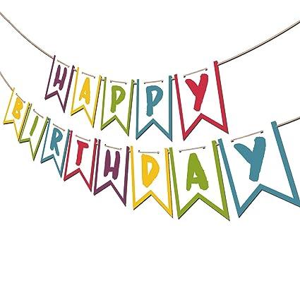 Amazon.com: Moi Doi - Pancarta de feliz cumpleaños ...