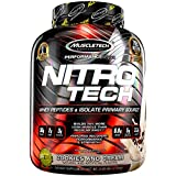 MuscleTech NitroTech Protein Powder, 100% Whey Protein with Whey Isolate, Cookies and Cream, 4 Pound