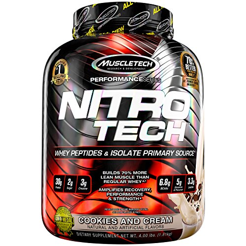 MuscleTech NitroTech Protein Powder, 100% Whey Protein with