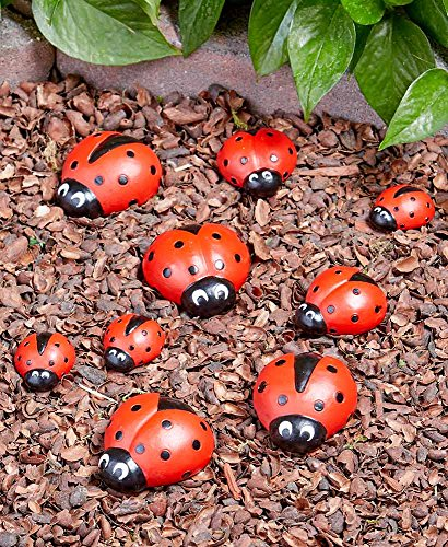 The Lakeside Collection Ladybug Garden Decor Set