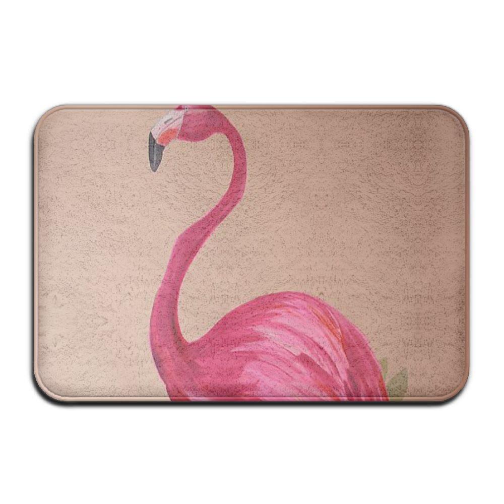BINGO BAG Decor Pink Flamingos Indoor Outdoor Entrance Printed Rug Floor Mats Shoe Scraper Doormat For Bathroom, Kitchen, Balcony, Etc 16 X 24 Inch