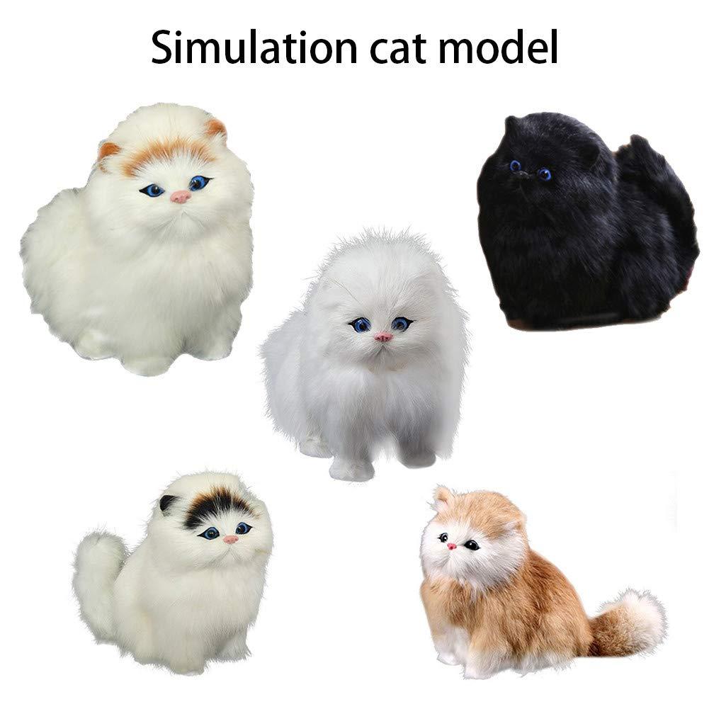Le Chat de Simulation appellera Lorsque Vous cliquerez sur Le Bas du Bouton Simulation Chat Peluche Animaux Jouet Enfants F/ête danniversaire Cadeaux Momola Animal de Compagnie ami A