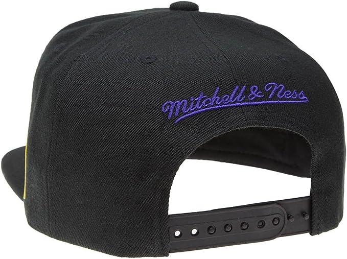 Mitchell /& Ness Beanie Hiver Casquette LA Lakers Black Onesize Taille Unique