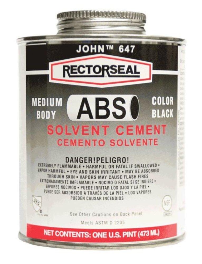 Rectorseal 55938 1/4 Pint 647L Low Voc Abs Solvent Cement