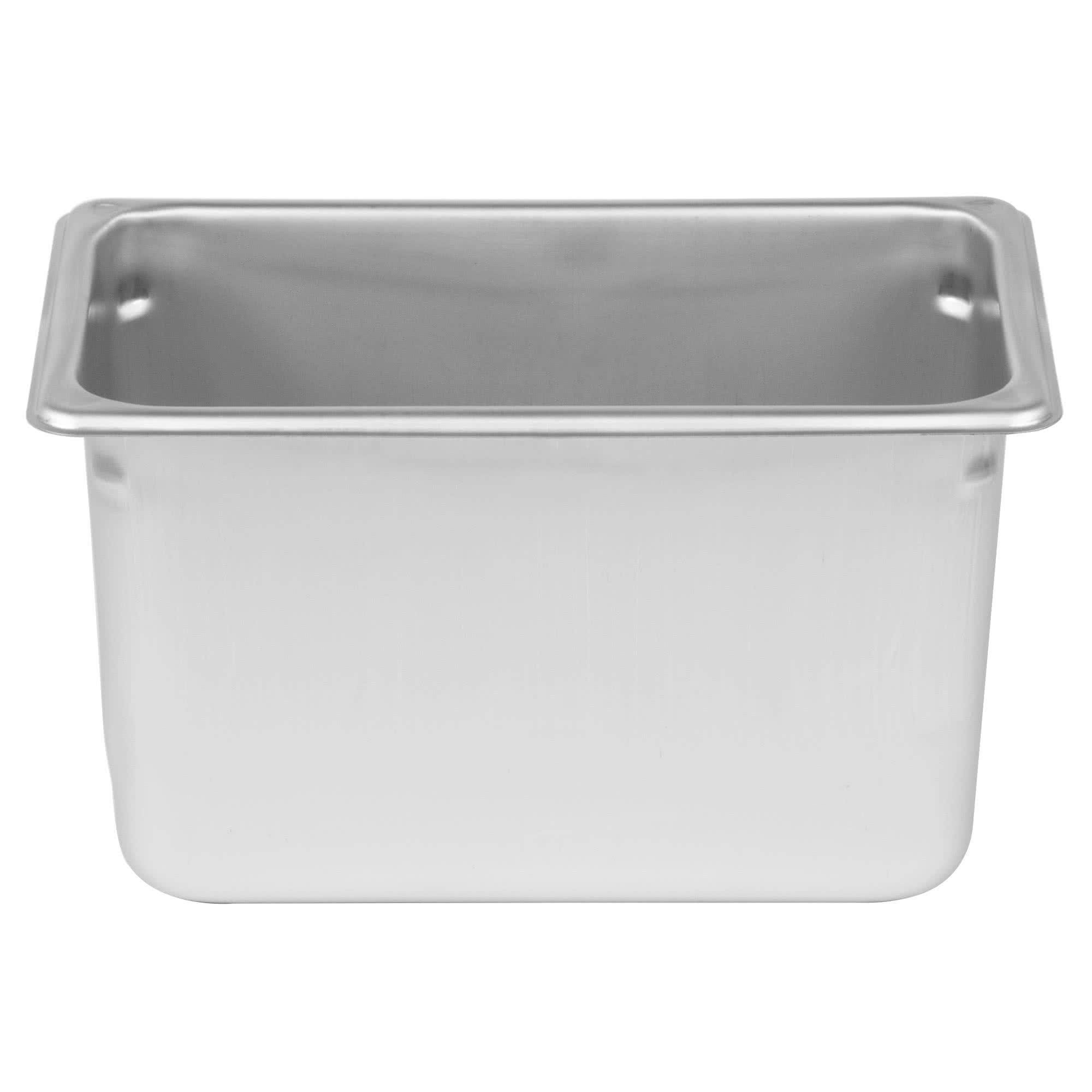 TableTop King 1/4 Size Anti-Jam Stainless Steel Steam Table / Hotel Pan - 6'' Deep