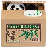 Ambox Cute Stealing Coin Cat Piggy Money Bank White Little Panda