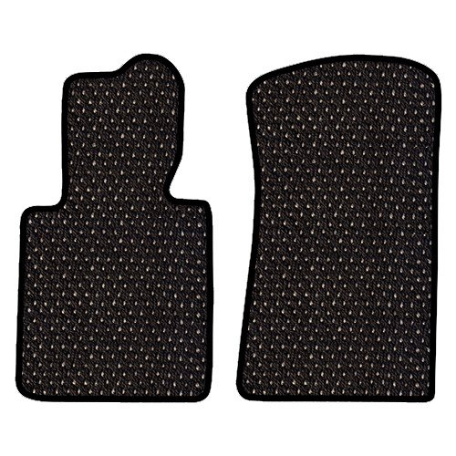 Furstil Automotive - The Original Coco Mats - Custom Fit Floor Mats Hand-Made in USA for 1999 - 2004 Porsche 911 996 Body Coupe Only Black Grey Dot-Front Set-Two Piece